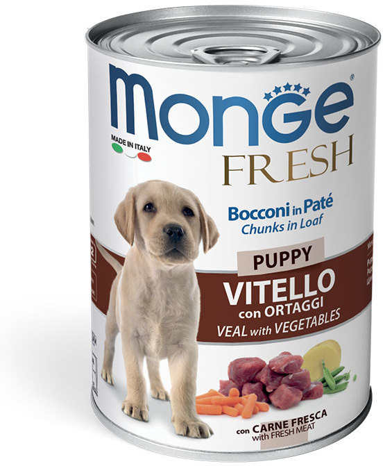Monge Dog Fresh мясной рулет для щенков всех пород, телятина и овощи 400 гр