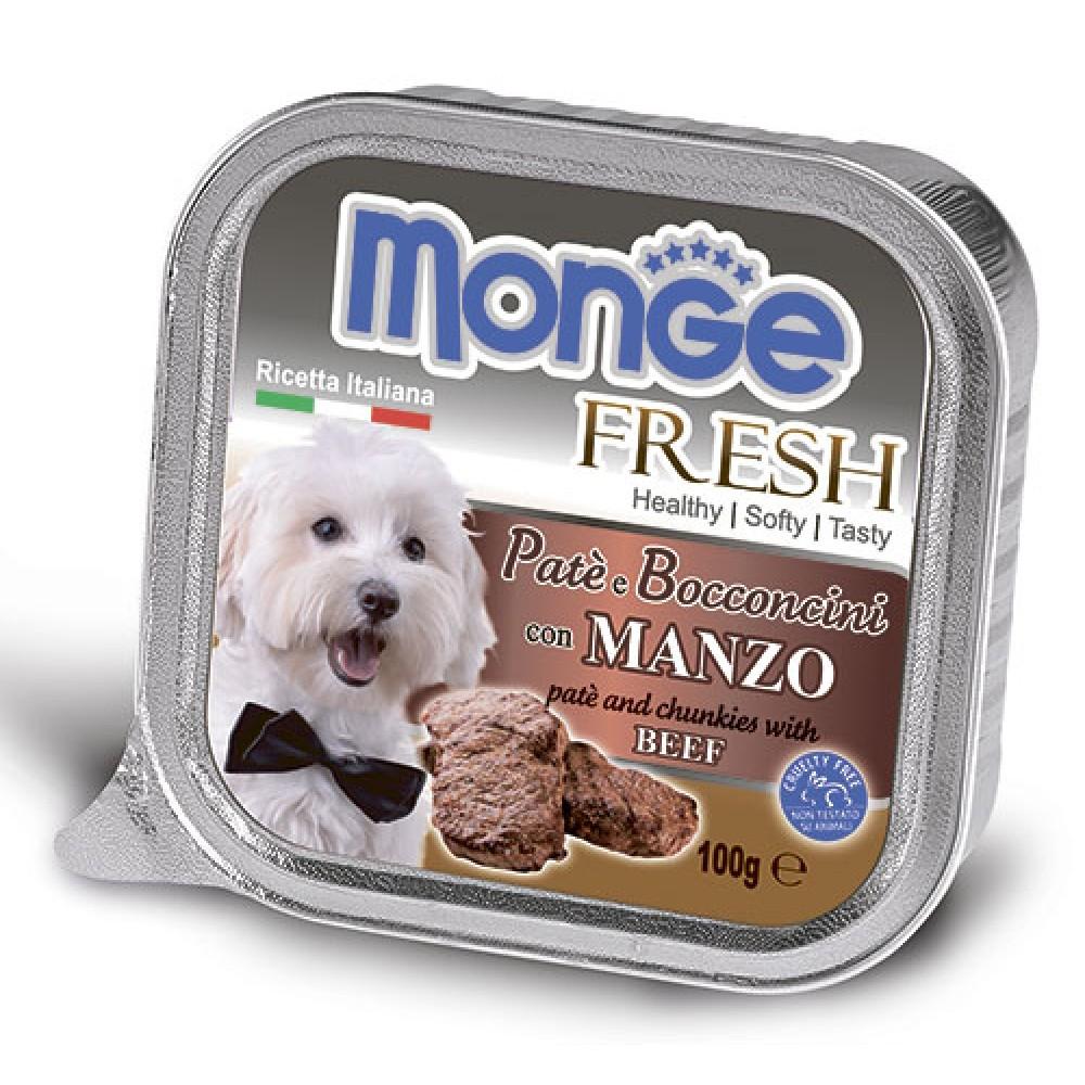 Monge Dog Fresh влажный корм для собак всех пород и возрастов, говядина 100 гр