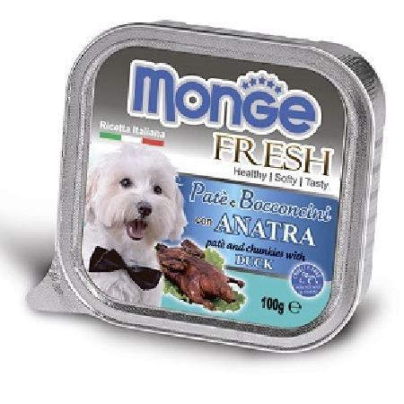 Monge Dog Fresh влажный корм для собак всех пород и возрастов, утка 100 гр