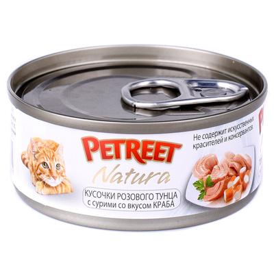 Petreet Консервы для кошек,тунец с крабом сурими А53070, 0,070 кг, 54006