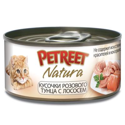 Petreet Консервы для кошек, тунец с лососем А53063, 0,070 кг, 54009
