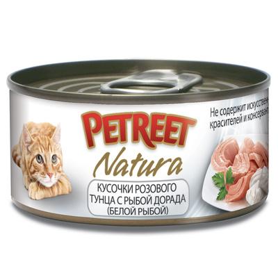 Petreet Консервы для кошек,тунец с рыбой дорада А53067, 0,070 кг, 54010