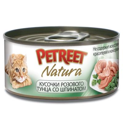 Petreet Консервы для кошек,тунец со шпинатом А53073, 0,070 кг, 54011