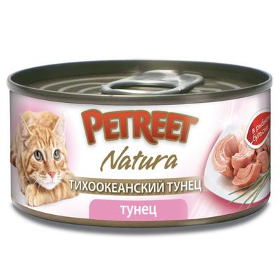Petreet Консервы для кошек, кусочки тихоокеанского тунца в рыбном бульоне A53095, 0,070 кг, 54012