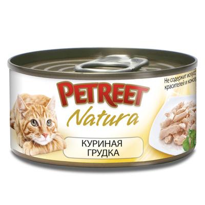 Petreet Консервы для кошек с куриной грудкой А53515, 0,070 кг, 54000