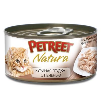 Petreet Консервы для кошек ,куриная грудка с печенью А53520, 0,070 кг, 54002