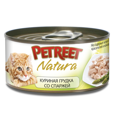 Petreet Консервы для кошек, куриная грудка со спаржей А53518, 0,070 кг, 54003