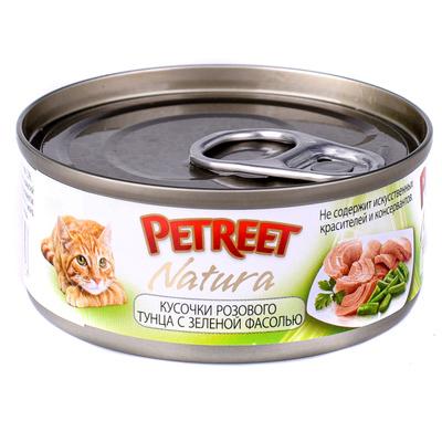Petreet Консервы для кошек, тунец с зеленой фасолью А53065, 0,070 кг, 54004