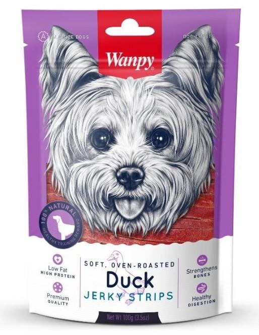 Wanpy лакомство для взрослых собак всех пород, утиная соломка 100 гр