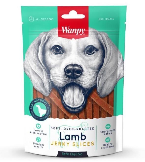 Wanpy лакомство для взрослых собак всех пород, соломка из мяса ягненка 100 гр