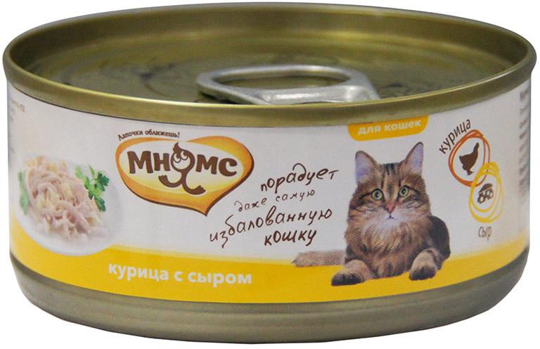 Мнямс влажный корм для взрослых кошек всех пород, сыр 70 гр