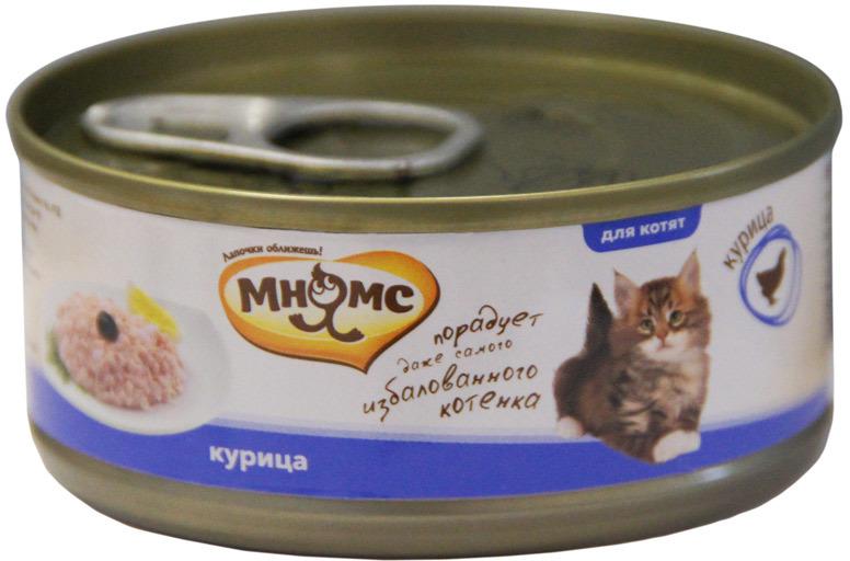 Мнямс влажный корм для котят всех пород, курица 70 гр