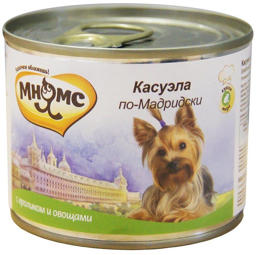 Мнямс влажный корм для взрослых собак всех пород, Касуэла по-Мадридски (кролик с овощами) 200 гр
