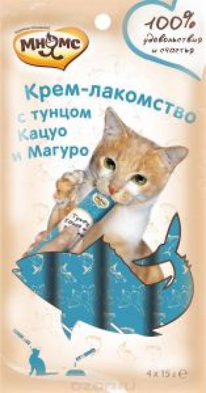 Мнямс крем-лакомство для кошек, с тунцом кацуо и магур 15 гр, 3200100830