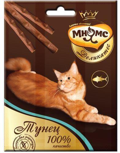 Мнямс Мясной карнавал Лакомые палочки с индейкой и ягненком лакомство для кошек 18 гр