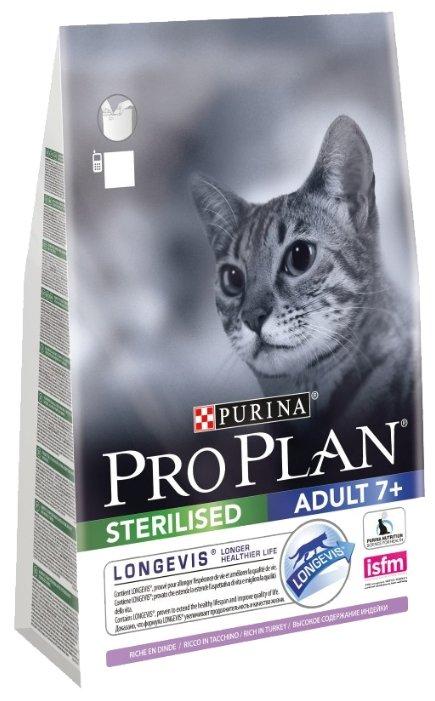 Pro Plan корм для пожилых стерилизованных кошек всех пород, индейка 3 кг