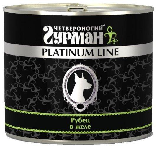 Четвероногий Гурман 48872 Platinum кон.д/собак Рубец говяжий в желе 500г, 53198