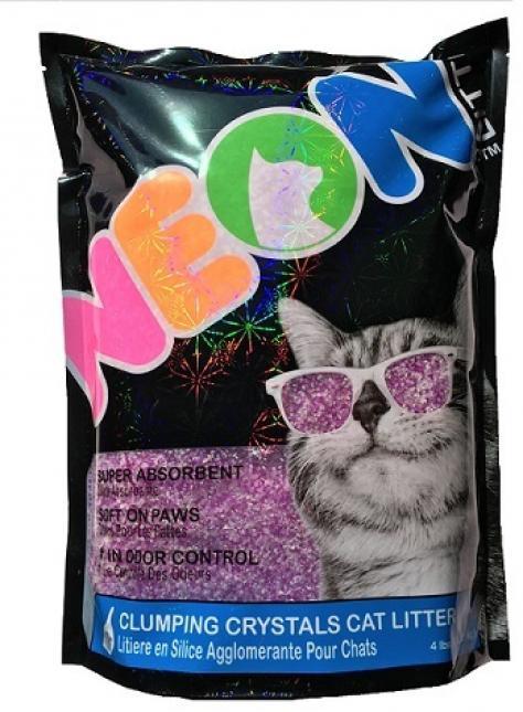 Neon Litter наполнитель силикагель, комкующийся, фиолетовый 1,81 кг, 700440