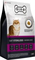 GINA Cat Sterilized Chicken&Rice 1кг,
