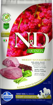 FARMINA ВИА Сухой беззерновой корм для собак всех пород QUINOA LINE для контроля веса ягненок и киноа 8800, 0,800 кг