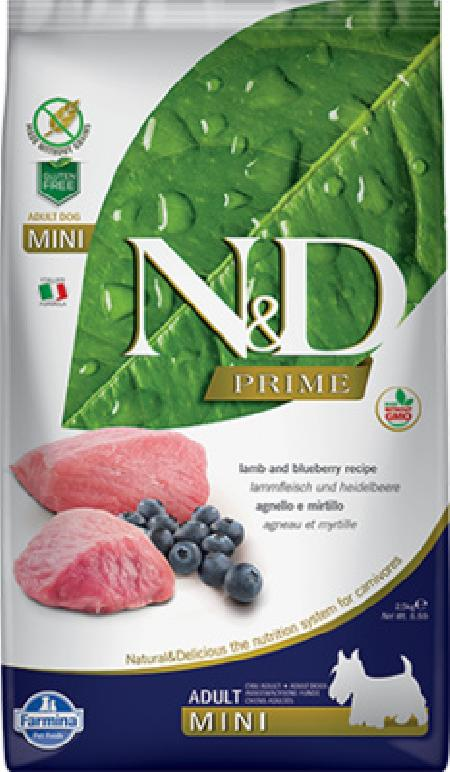 FARMINA ВИА Сухой беззерновой корм для мелких пород PRIME LINE ягненок с черникой 11218, 7,000 кг