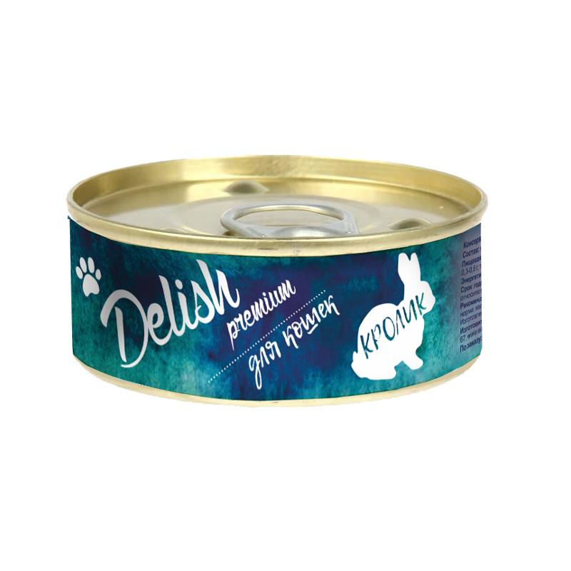 Delish premium дк конс.100 гр кролик 5566
