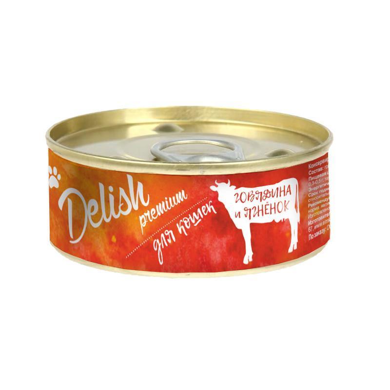 Delish premium дк конс.100 гр говядина и ягнёнок 5573