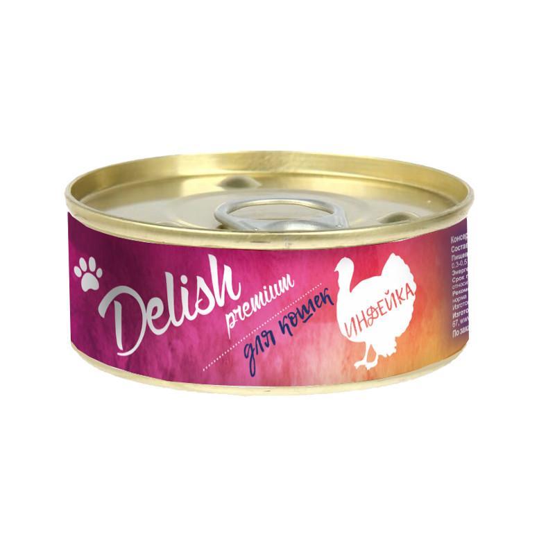 Delish premium дк конс.100 гр индейка 5542