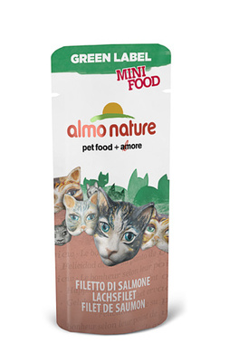 Almo Nature Лакомство для кошек Филе Лосося, 99% мяса (HFC - Mini Food - Salmon) 501, 0,003 кг