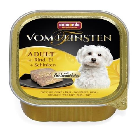 Animonda Консервы  Меню для гурманов  с говядиной, яйцом и ветчиной для собак (Vom Feinsten Adult), 0,150 кг