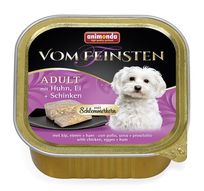 Animonda Консервы Меню для гурманов  с курицей, яйцом и ветчиной для собак (Vom Feinsten Adult) 001/82646, 0,150 кг