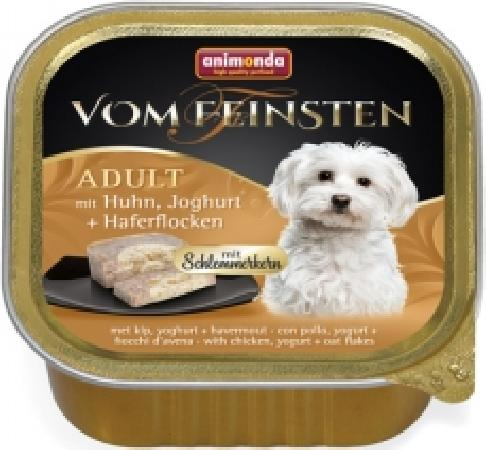 **Анимонда 82647 Vom Feinsten Adult Меню для гурманов кон.для собак с Курицей, йогуртом и овсяными хлопьями 150г