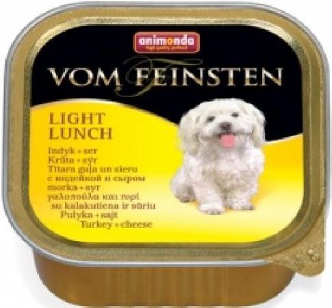 Animonda Vom Feinsten влажный корм для собак, облегченное меню, с индейкой и сыром 150 гр
