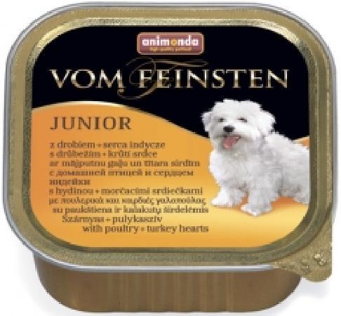 Animonda Vom Feinsten влажный корм для щенков и юниоров, домашняя птица и сердце индейки 150 гр