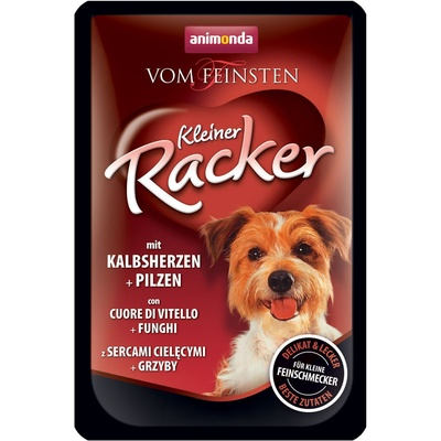 Animonda ВИА Паучи для собак Vom Feinsten Kleiner Racker c телячьим сердцем и грибами (001/82684) 001/82684, 0,085 кг