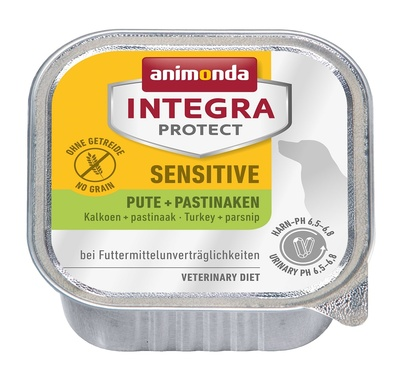 Animonda Консервы Integra для взрослых собак при пищевой аллергии с индейкой и пастернаком (Sensitive) 001/86539, 0,150 кг