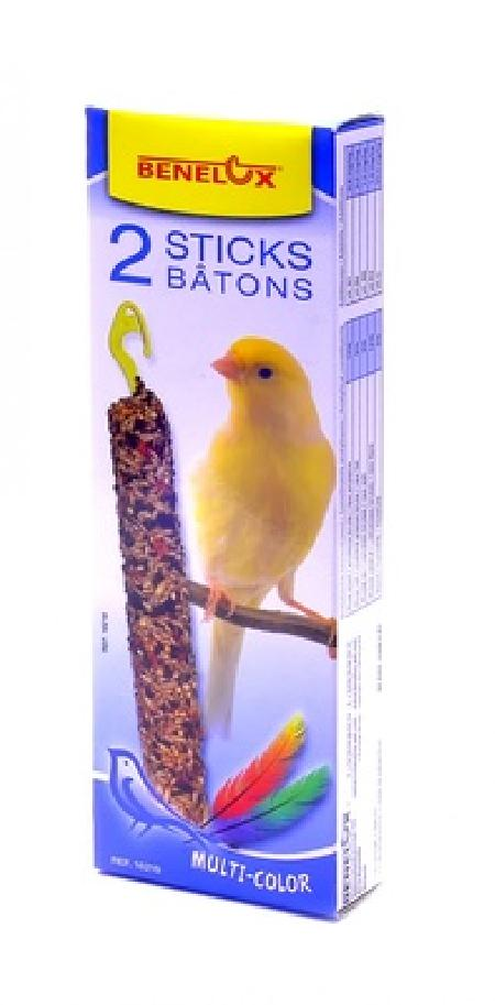 Benelux корма ВИА Лакомые палочки для канареек Красивые перышки (Seedsticks canary Multi-Color x 2 pcs) 16216, 0,110 кг, 50849, 200100847