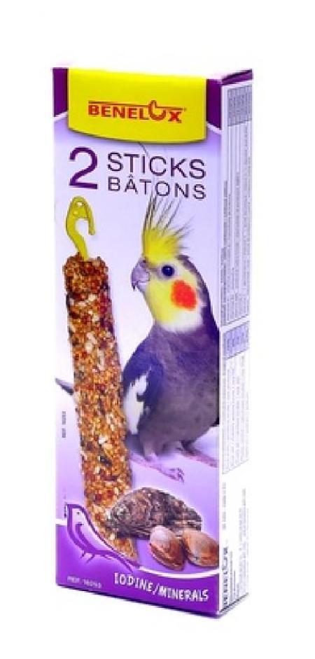Benelux корма ВИА Лакомые палочки с витаминами, йодом и клетчаткой для длиннохвостых попугаев (Seedsticks parakeet iodine/shells x 2 pcs) 16253, 0,110 кг, 50859