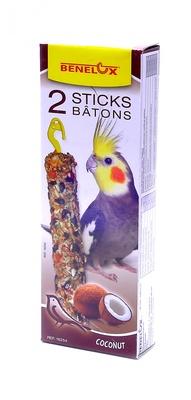 Benelux корма ВИА Лакомые палочки с кокосом для длиннохвостых попугаев (Seedsticks parakeet Coconut x 2 pcs) 16254, 0,110 кг, 50860