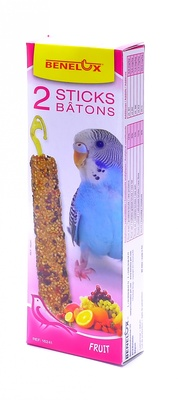 Benelux корма ВИА Лакомые палочки с фруктами для волнистых попугайчиков (Seedsticks budgies Fruit x 2 pcs) 16241, 0,110 кг, 700100847