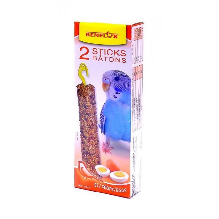 Benelux корма ВИА Лакомые палочки с яйцом для волнистых попугайчиков (Seedsticks budgies Eggs x 2 pcs) 16242, 0,110 кг, 50855