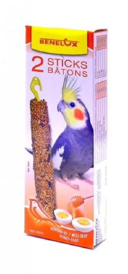 Benelux корма ВИА Лакомые палочки с яйцом и медом для длиннохвостых попугаев (Seedsticks parakeet Honey/Eggs x 2 pcs) 16251, 0,110 кг, 50857