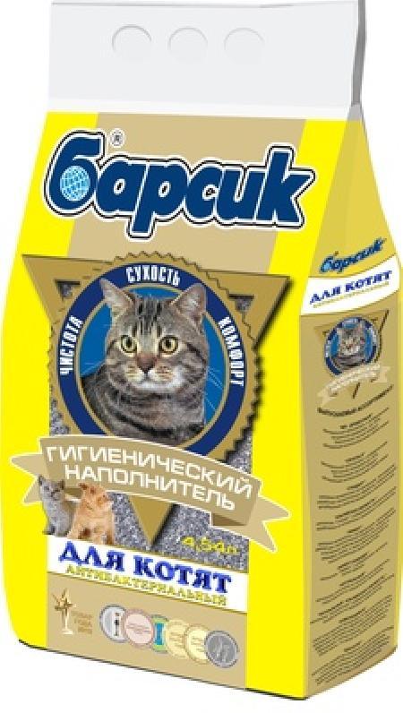 Барсик Для Котят: впитывающий наполнитель, 4,54л: Желтый 92016, 3,000 кг