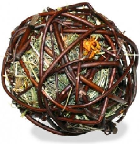 JR FARM 07709 Лакомство дгрызунов Ивовый шар с сеном и календулой 80г, 2100100853