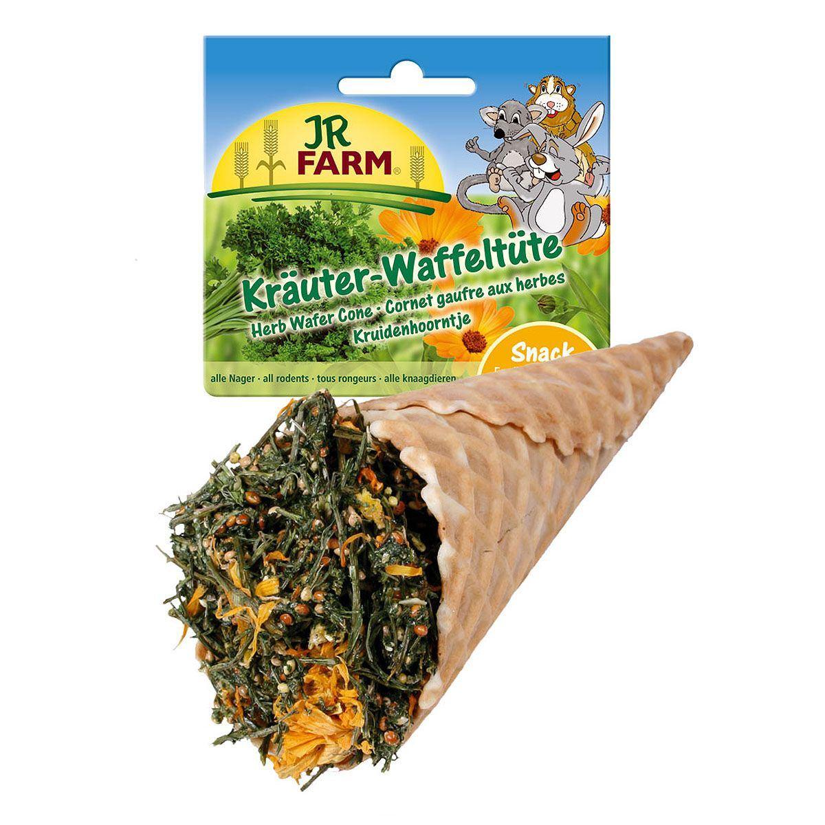 JR FARM 10889 Лакомство д/грызунов Травы ассорти в вафельном рожке 60г, 37120