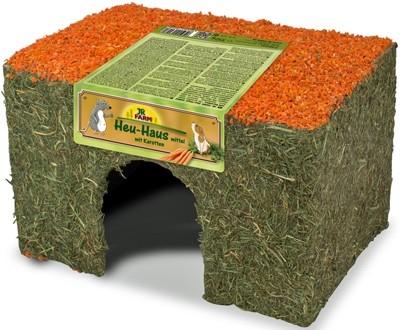JR FARM 16248 Лакомство д/грызунов Домик из сена и моркови 350г, 39445