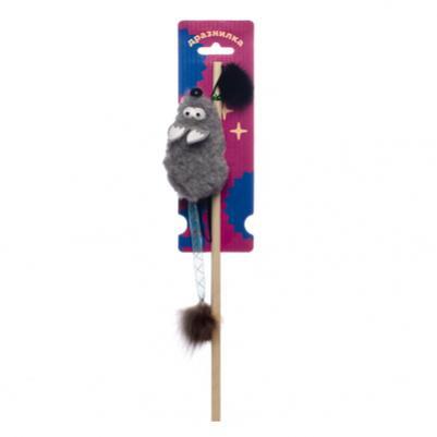 Tappi игрушки Игрушка Бибури дразнилка для кошек мышь с хвостом трубочкой и  кисточкой из меха 29оп66, 0,026 кг, 43368