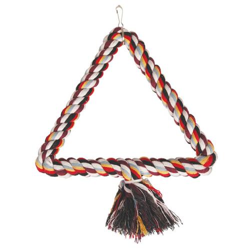 0250XJ Качели-треугольник верёвочный для птиц, 25см