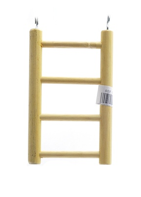 Benelux аксессуары ВИА Деревянная лесенка для птиц 4 ступени 10.5*25 см (Ladder wood 4 rungs 10.5x25 cm) 14394, 0,100 кг, 50689