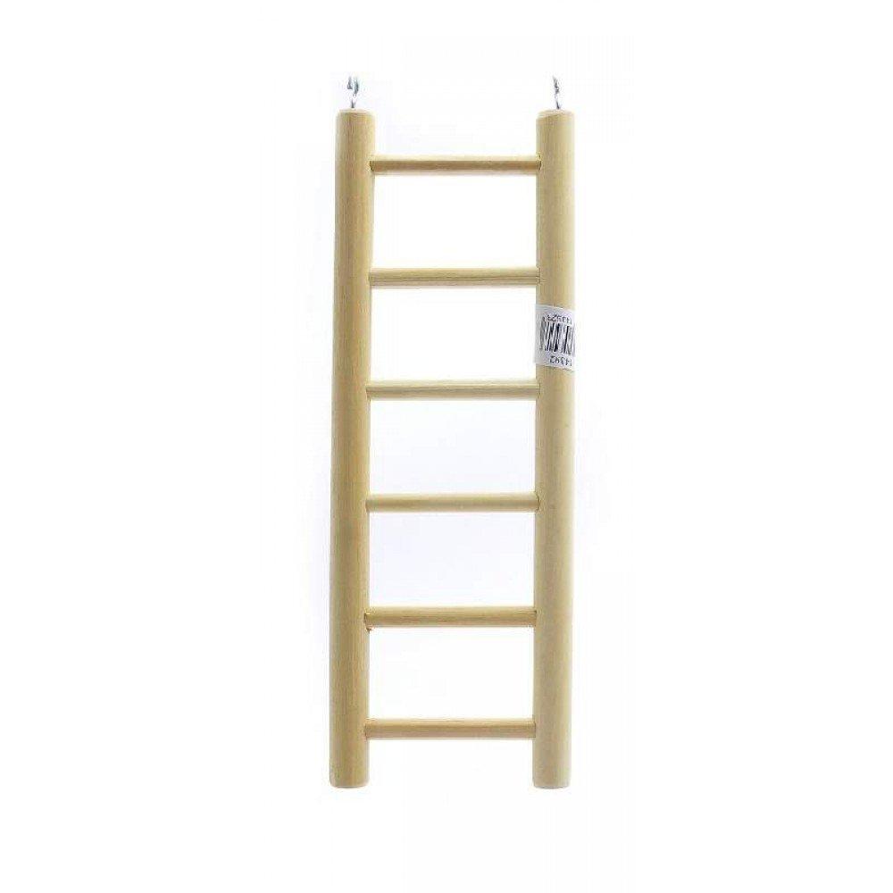 Benelux аксессуары ВИА Деревянная лесенка для птиц 6 ступеней 8.5*24 см (Ladder wood 6 rungs 8.5x24 cm) 14392.., 0,150 кг, 50687